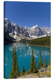 Canvastavla  Moraine Lake in the mountain valley - Paul Thompson