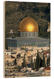 Trätavla  Jerusalem and the Dome of the Rock - David Noyes