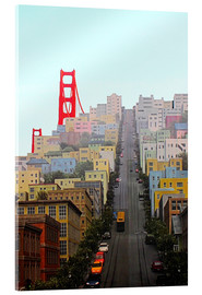 Akrylglastavla  San Francisco and Golden Gate Bridgee - John Morris