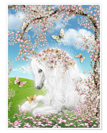 Poster  Dreamy unicorn - Dolphins DreamDesign
