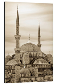 Aluminiumtavla  the blue mosque in sepia (Istanbul - Turkey) - gn fotografie