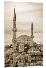 PVC-tavla  the blue mosque in sepia (Istanbul - Turkey) - gn fotografie
