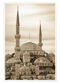 Premiumposter  the blue mosque in sepia (Istanbul - Turkey) - gn fotografie