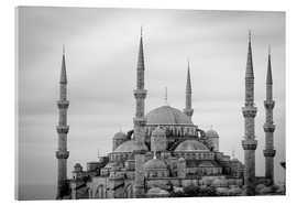 Akrylglastavla  the blue mosque in Istanbul / Turkey - gn fotografie