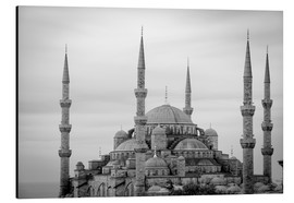 Aluminiumtavla  the blue mosque in Istanbul / Turkey - gn fotografie