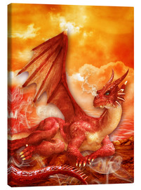 Canvastavla  Red Power Dragon - Dolphins DreamDesign
