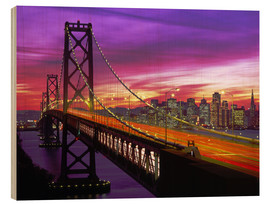 Trätavla  Bay Bridge in San Francisco - Paul Thompson