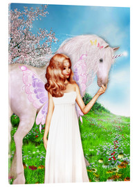 Akrylglastavla  Angel and Unicorn - Dolphins DreamDesign