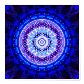 Premiumposter  Mandala safety with flower of life - Christine Bässler