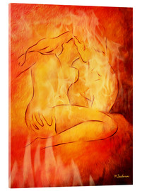 Akrylglastavla  Flaming erotic - lovers - Marita Zacharias