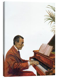 Canvastavla  Rachmaninoff playing the piano - Andrew Howat