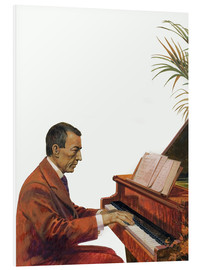 PVC-tavla  Rachmaninoff playing the piano - Andrew Howat