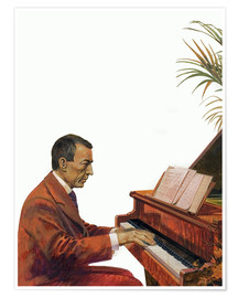Premiumposter  Rachmaninoff playing the piano - Andrew Howat