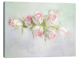 Canvastavla  pretty pink roses - Lizzy Pe