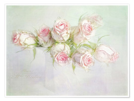 Premiumposter  pretty pink roses - Lizzy Pe