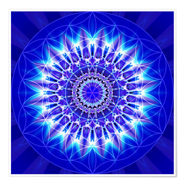 Premiumposter  Spirituality with Mandala Flower of Life - Christine Bässler
