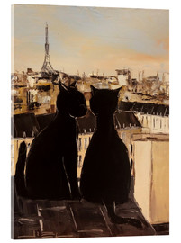 Akrylglastavla  Cats on the roofs of Paris - JIEL