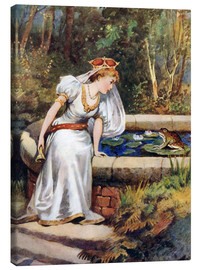 Canvastavla  The Frog Prince - William Henry Margetson