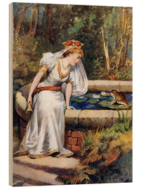 Trätavla  The Frog Prince - William Henry Margetson