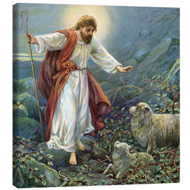 Canvastavla  Jesus Christ, the tender shepherd - Ambrose Dudley