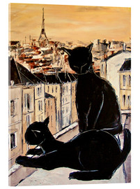 Akrylglastavla  Cats love over the rooftops of Paris - JIEL