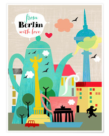Premium poster  From Berlin with love - Elisandra Sevenstar