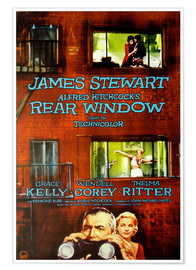Premiumposter Hitchcock's Rear Window (Fönstret åt gården)