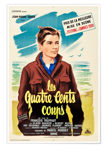 Premiumposter THE 400 BLOWS (aka THE FOUR HUNDRED BLOWS aka LES QUATRE CENTS COUPS), Jean-Pierre Leaud on French 1