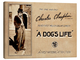 Canvastavla  A Dogs Life, Charlie Chaplin poster Photo 1918