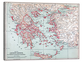 Canvastavla  Map of Ancient Greece