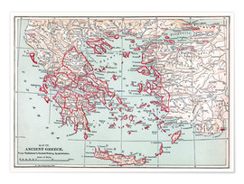Poster  Map of Ancient Greece