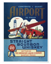 Premiumposter  Airport Whiskey Label