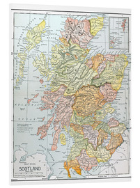 PVC-tavla  Map of Scotland