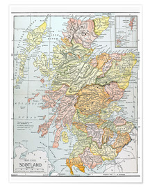 Poster  Map of Scotland