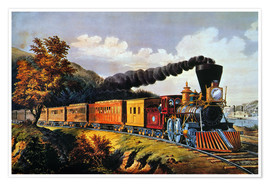 Premiumposter  American Express Train. - N. & J.M. Currier & Ives