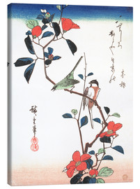 Canvastavla  Flowers and Birdsin - Utagawa Hiroshige