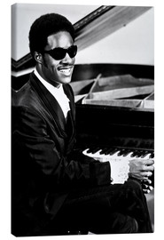 Canvastavla  Stevie Wonder at the piano