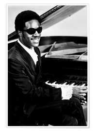 Premiumposter Stevie Wonder at the piano