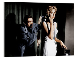 Akrylglastavla  Dial M for Murder, from left: Anthony Dawson, Grace Kelly in 1954