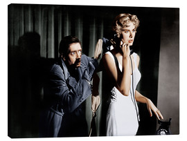 Canvastavla  Dial M for Murder, from left: Anthony Dawson, Grace Kelly in 1954