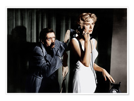 Poster  Dial M for Murder, from left: Anthony Dawson, Grace Kelly in 1954