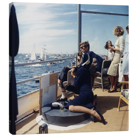Canvastavla  President and Jacqueline Kennedy at Sailing