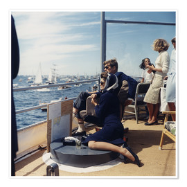 Premiumposter  President and Jacqueline Kennedy at Sailing
