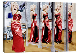 Canvastavla  Marilyn Monroe in front of mirrors