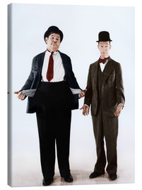 Canvastavla  Laurel & Hardy with empty pockets