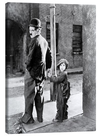 Canvastavla  The Kid, Charlie Chaplin, Jackie Coogan, 1921