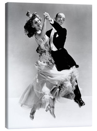 Canvastavla  Rita Hayworth och Fred Astaire