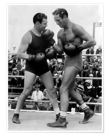 Premiumposter  Jack Dempsey and Max Baer
