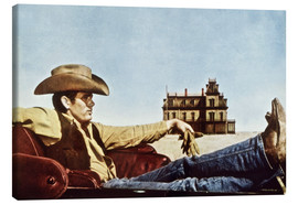 Canvastavla  James Dean as a cowboy