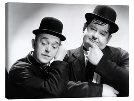 Canvastavla  Stan Laurel and Oliver Hardy